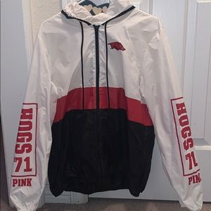 Arkansas Razorback VS Pink Rain Jacket
